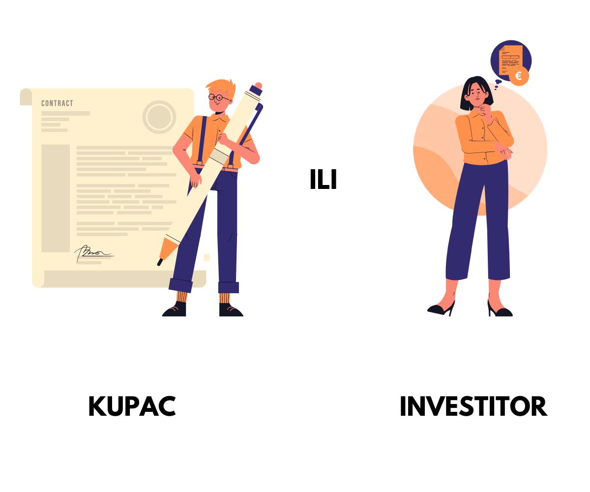 Infografika koja objašnjava investiranje i kupovinu nekretnina u Hrvatskoj.